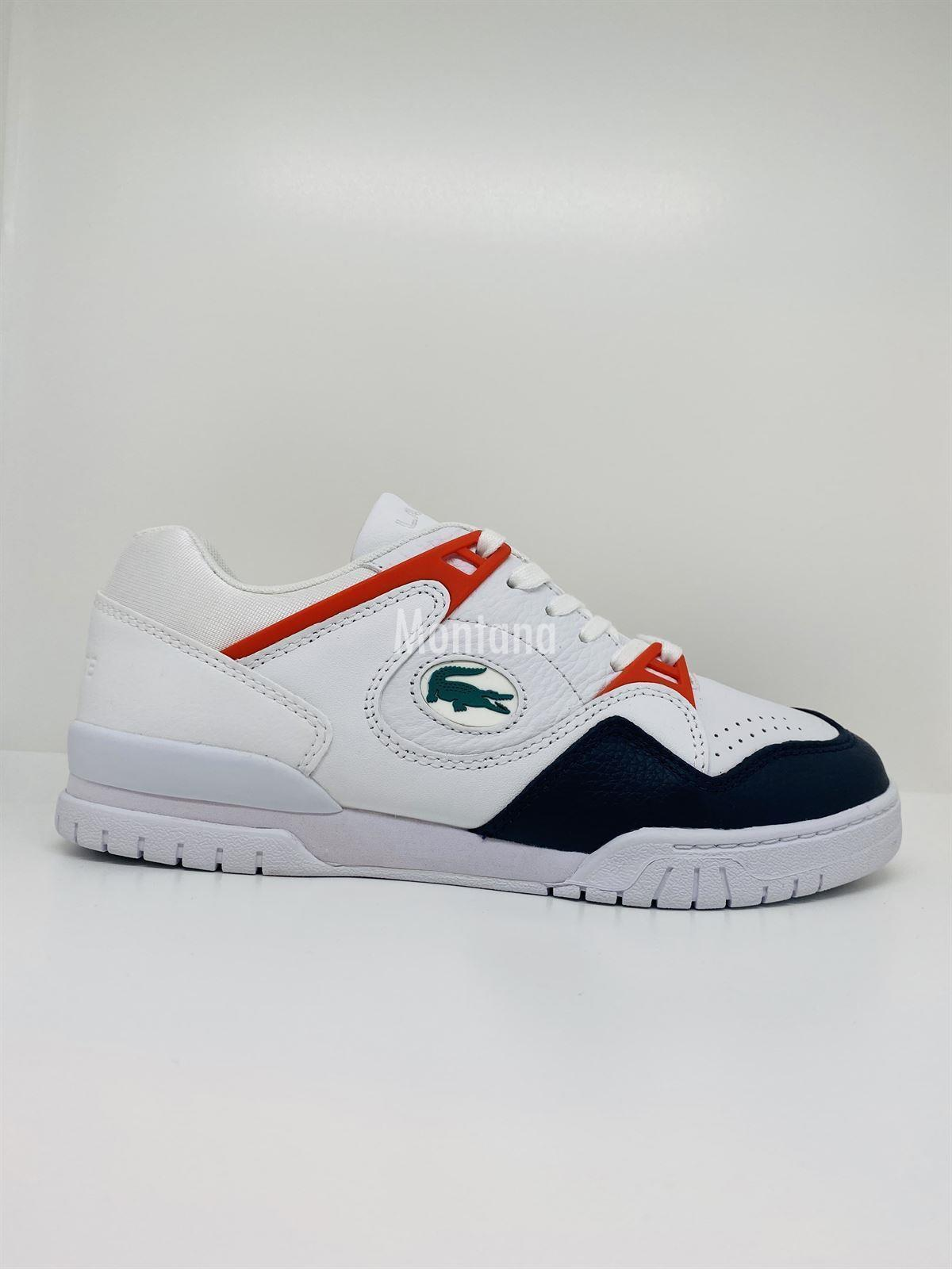 Zapatillas LACOSTE Courtpoint Leather 39SMA0004 White/Navy - Imagen 1