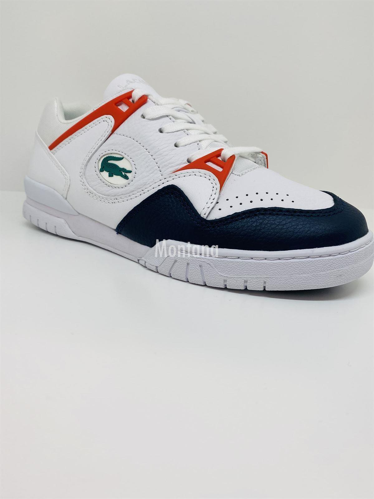 Zapatillas LACOSTE Courtpoint Leather 39SMA0004 White/Navy - Imagen 2