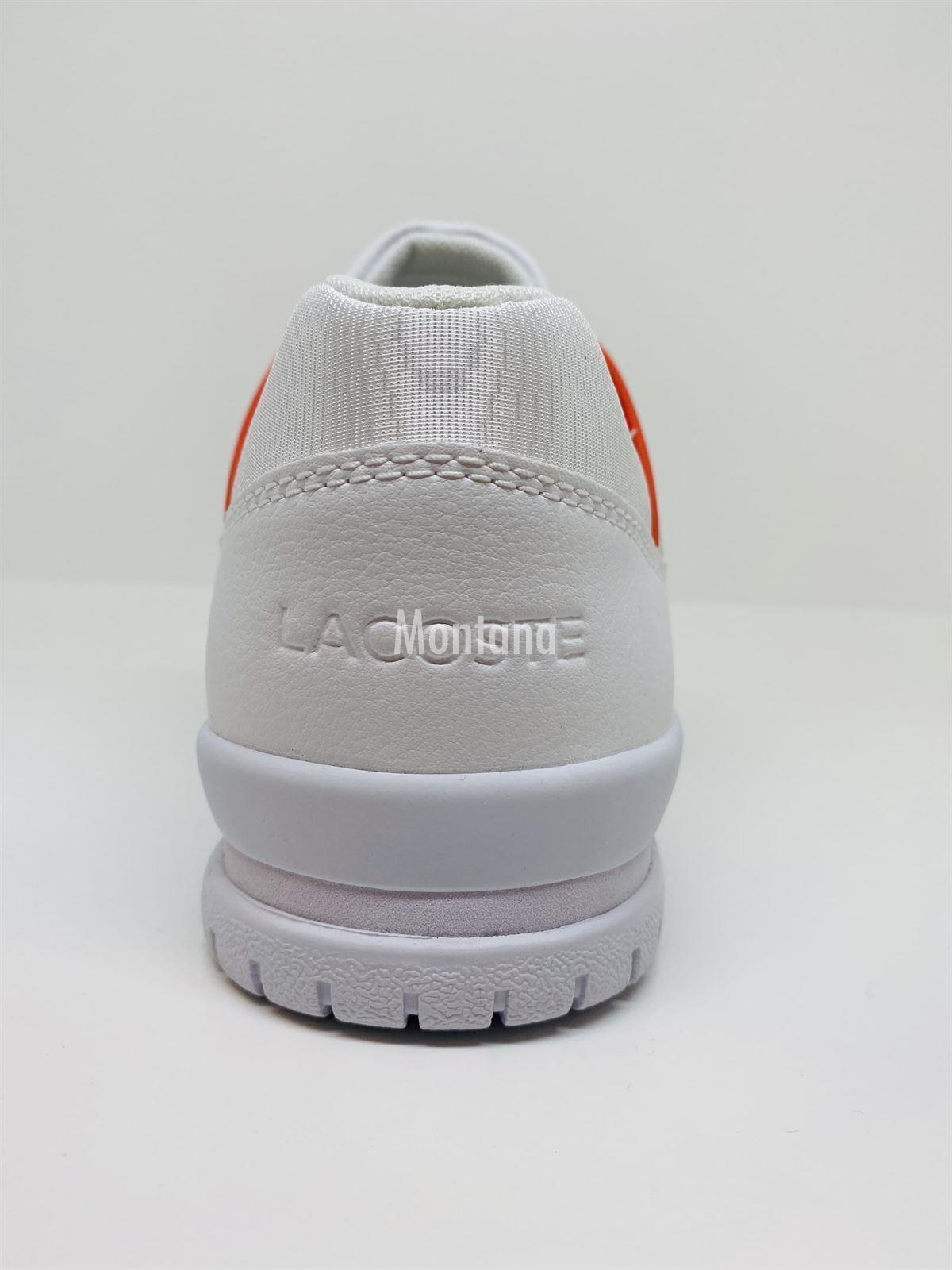 Zapatillas LACOSTE Courtpoint Leather 39SMA0004 White/Navy - Imagen 3