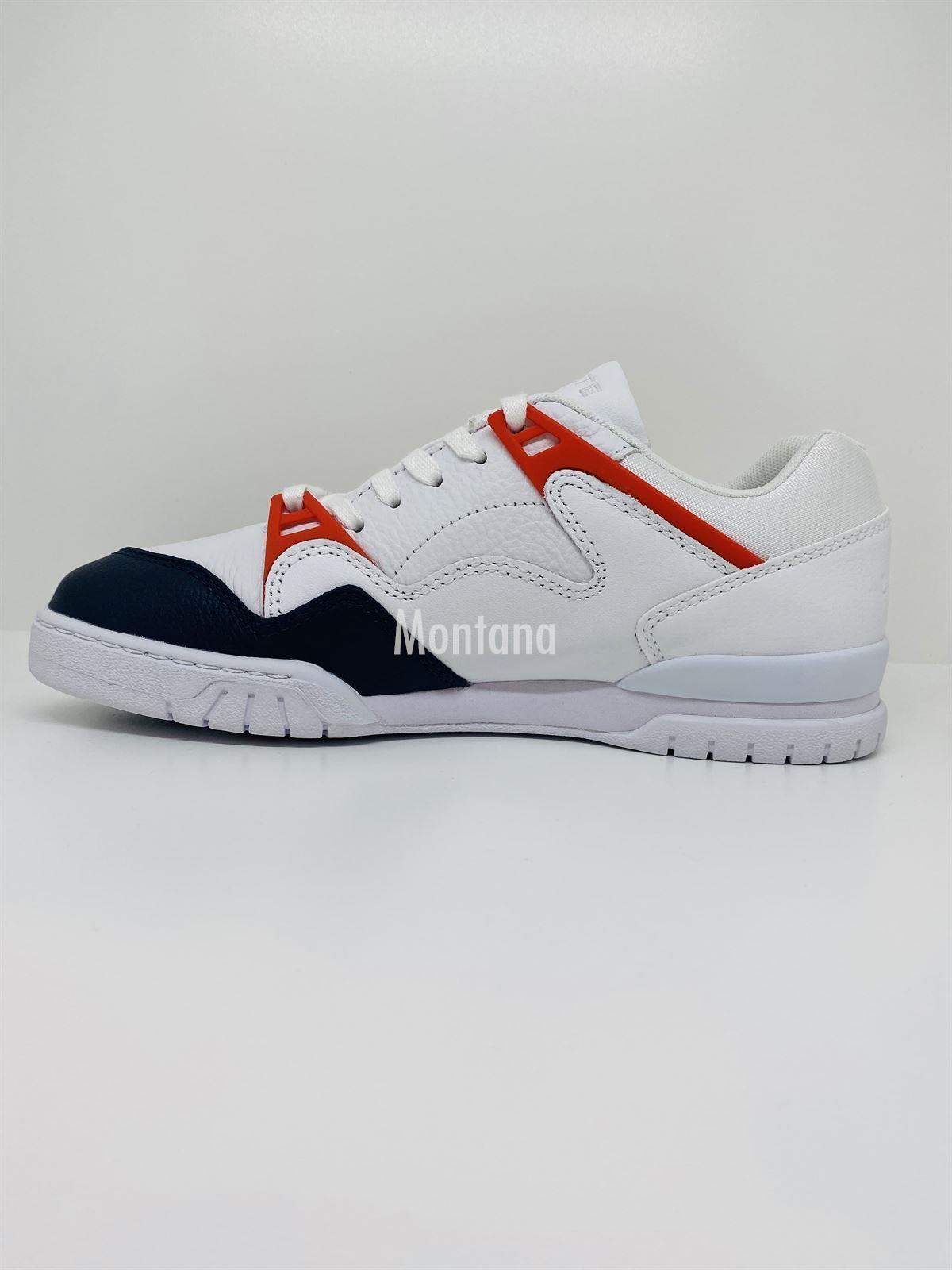 Zapatillas LACOSTE Courtpoint Leather 39SMA0004 White/Navy - Imagen 4
